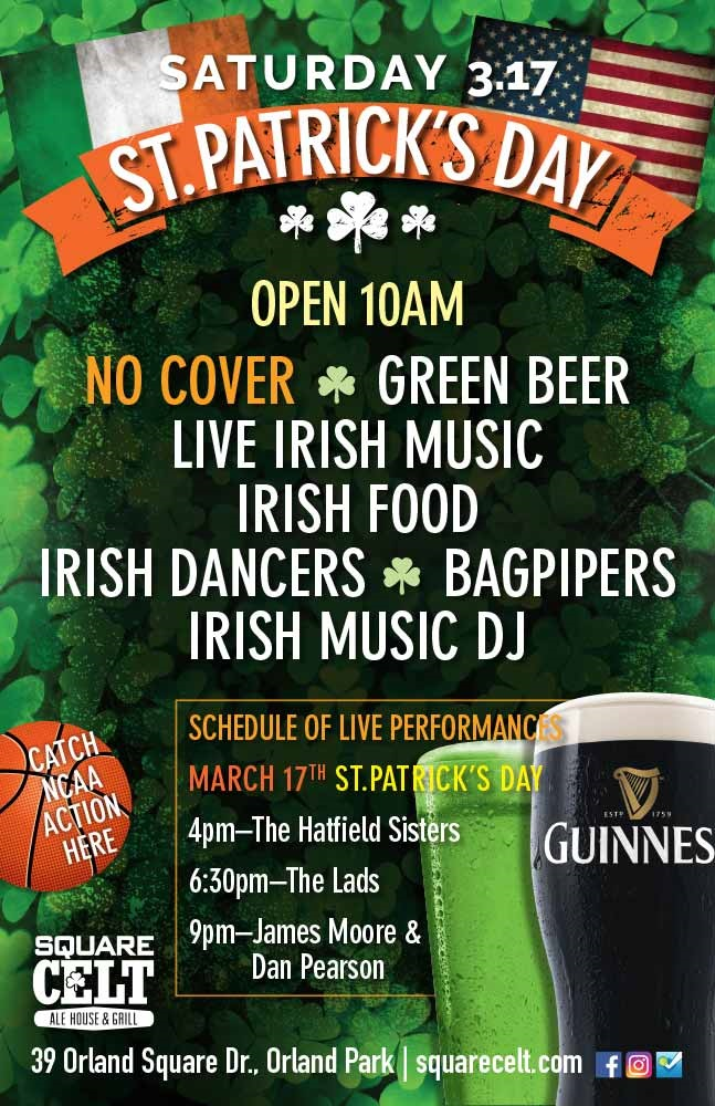 St. Patrick's Day Orland Park - Guinness - Green Beer